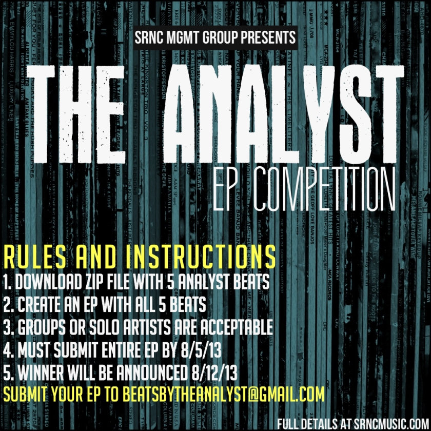The Analyst - Contest Flyer
